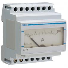 Амперметр аналоговий, непрямого включення, 0-600А, 4м Hager SM600