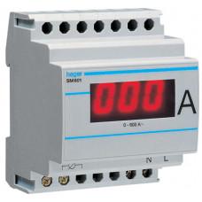 Амперметр цифровий, непрямого включення, 0-600А, 4м Hager SM601