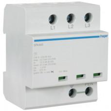 Розрядник клас 1, моноблок, з індикацією, TN-C, 3п, 37.5kA/1.5kV Hager SPA400