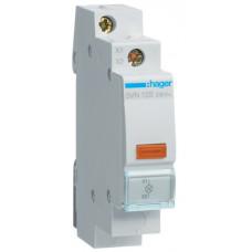 Індикатор LED 230В, жовтий, 1м Hager SVN123