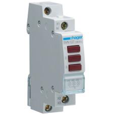 Індикатор потрійний LED, 230В, 3 червоних, 1м Hager SVN127