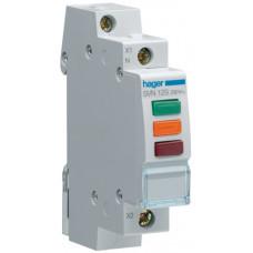 Індикатор потрійний LED, 230В, червоний-зелений-помаранчевий, 1м Hager SVN129
