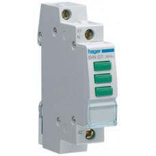 Індикатор потрійний LED, 230В, 3 зелених, 1м Hager SVN221