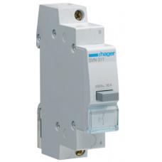 Выключатель кнопочный возвратный 230В/16А, 1НО, 1м Hager SVN311