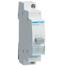 Выключатель кнопочный возвратный 230В/16А, 1НЗ, 1м Hager SVN321