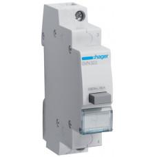 Выключатель кнопочный 230В/16А, 1НЗ, 1м Hager SVN322