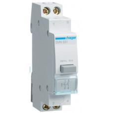 Выключатель кнопочный возвратный 230В/16А, 2НО, 1м Hager SVN331