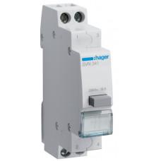 Выключатель кнопочный возвратный 230В/16А, 2НЗ, 1м Hager SVN341