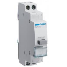 Выключатель кнопочный 230В/16А, 2НЗ, 1м Hager SVN342