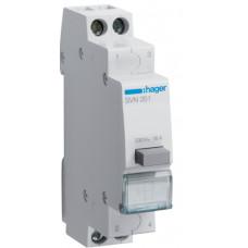 Выключатель кнопочный возвратный 230В/16А, 1НО+1НЗ, 1м Hager SVN351