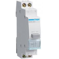 Выключатель кнопочный 230В/16А, 1НО+1НЗ, 1м Hager SVN352