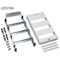 Блок Univers 3 шины TS35 3х12мод. для модульных аппаратов, с клеммами PE/N, 450x250 Hager UD31B4