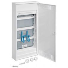 Щит 4-рядний для ММ-обладнання, з/у з металевими дверями, VOLTA Hager VA48NW