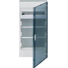Щит з/у, прозорі двері, 18M + 3 ряди для ММ-обладнання, VEGA Hager VB418MMT
