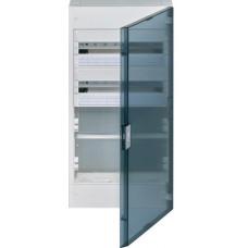 Щит з/у, прозорі двері, 36M + 2 ряди для ММ-обладнання, VEGA Hager VB418MTT