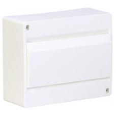 Щит наружной установки с белой дверцей 8 мод. COSMOS Hager VD108PD