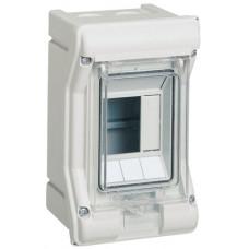 Щит розподільчий на 3 модулі, з/у з прозрачной дверцей, IP65, VECTOR Hager VE103D