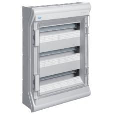 Щит розподільчий на 54(60) модулів, з/у з прозорими дверцятами, IP65, VECTOR Hager VE318DN