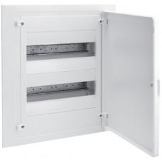 Щит внутренней установки с белой дверцей, 24 мод. (2х12), GOLF Hager VF212PD