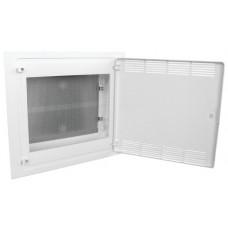 Щит 2-рядный для ММ-оборудования, в/у, белые пластиковые перфорированные двери, GOLF VF218PZF