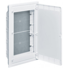 Щит 4-рядный для ММ-оборудования, в/у, белые пластиковые перфорированные двери, GOLF VF418PZF