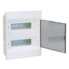 Щит внутренней установки с прозрачной дверцей 24 мод.(2х12) COSMOS Hager VR212TD