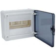 Щит наружной установки с прозрачной дверцей, 8 мод. (1х8), GOLF Hager VS108TD