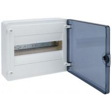 Щит наружной установки с прозрачной дверцей, 12 мод. (1х12), GOLF Hager VS112TD