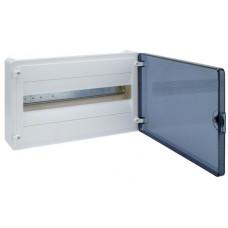 Щит наружной установки с прозрачной дверцей, 18 мод. (1х18), GOLF Hager VS118TD