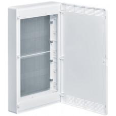 Щит 4-рядный для ММ-оборудования, н/у, белые пластиковые перфорированные двери, GOLF VS418PZF