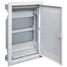 Щит 2-рядний для ММ-обладнання, в/у з металевими дверями, VOLTA Hager VU24NWB