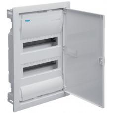 Щит на 24(28) модуля, внутрішнього встановлення з металевими дверцятами, без клем, VOLTA Hager VU24UA