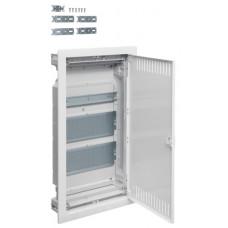 Щит 3-рядний для ММ-обладнання, в/у з металевими дверями, VOLTA Hager VU36NWB