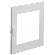 Дверцата білі з прозорим віконцем для 1-рядного щита VOLTA VU12UA, Hager VZ131N