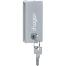 Ручка с замком к щиту VEGA в белые дверцы, Hager VZ310PVB