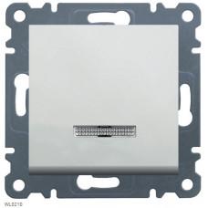 Выключатель одноклавишный с подсветкой, белый, Lumina-2 Hager WL0210