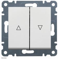 """Выключатель для жалюзи """"Контактор"""" Lumina-2, белый, 10АХ/230В Hager WL0320"""