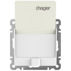 Выключатель для отельных карточек Lumina-2, белый, Hager WL0510