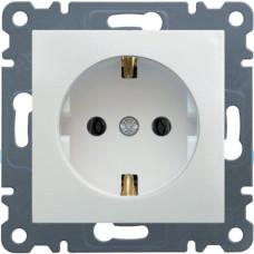Розетка c з/к, белая, 16А/230В, Lumina-2 Hager WL1050