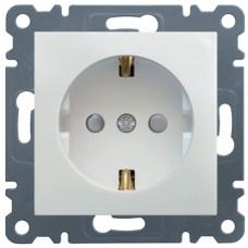 Розетка с з/к с защитой контактов, белая, 16А/230В, Lumina-2 Hager WL1060