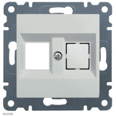 Панель двойная для RJ12/RJ45/USB/HDMI/F-TYPE Lumina-2, белая Hager WL2320