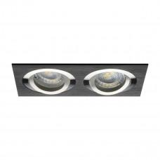 Светильник точечный SEIDY CT-DTL250-B, 2xGx5.3, IP20, черный, Kanlux 18284