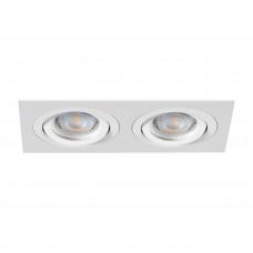 Светильник точечный SEIDY CT-DTL250-W/M, 2xGx5.3, IP20, белый матовый, Kanlux 19455