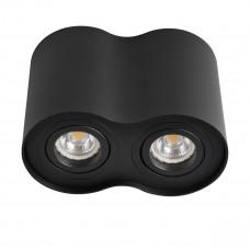 Светильник точечный BORD DLP-250-B, 2xGU10, IP20, черный матовый, Kanlux 22555