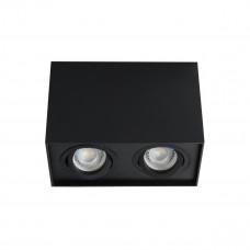 Світильник точковий GORD DLP 250-B, 2xGU10, IP20, чорний матовий, Kanlux 25474