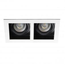Світильник точковий ARET 2XMR16-W, Gx5.3/GU10, IP20, білий, Kanlux 26723