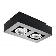 Світильник точковий STOBI DLP 250-B, 2xGU10, IP20, чорний, Kanlux 26832