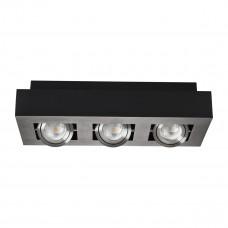 Світильник точковий STOBI DLP 350-B, 3xGU10, IP20, чорний, Kanlux 26834