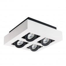 Світильник точковий STOBI DLP 450-W, 4xGU10, IP20, білий, Kanlux 26837