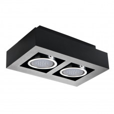 Світильник точковий STOBI ES 250-B, ES-111, 2xGU10, IP20, чорний, Kanlux 26838